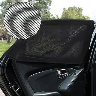 SmartSpec Auto Seitenfenster Sonnenschutz für Reisen, Baby, Rücksitz, Netzstoff, Sonnenschutz, UV Schutz, universelle Passform, Auto, SUV, 2 Stück
