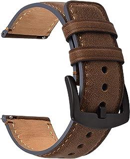Fullmosa Bracelet 22 mm, Bracelet de Montre en Cuir, Bracelet de Montre de Remplacement Compatible avec Samsung Galaxy Wat...