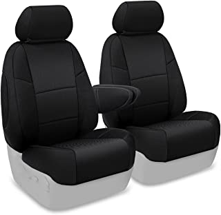 Coverking Custom Fit Front 50/50 Bucket Seat Cover for Select Toyota FJ Cruiser Models - Spacermesh Solid (Black)
