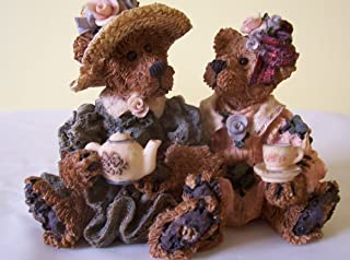 Boyds Bears Retired Resin - Emma & Bailey - Afternoon Tea from 1995