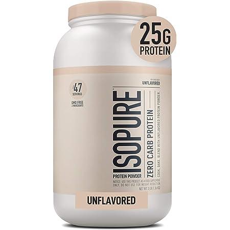 Isopure Zero Carb, Keto Friendly Protein Powder, 100% Whey Protein Isolate, Unflavored, 3 Pound