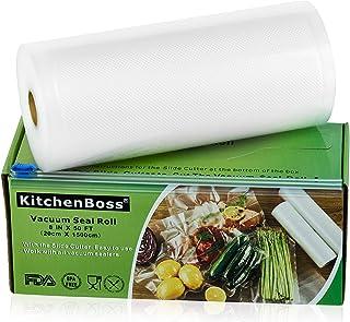 comprar comparacion KitchenBoss Bolsas de Vacío 1 Rolls 20x1500cm con Caja de Corte (No Más Tijeras) para Almacenaje de Alimentos,Sous Vide Co...