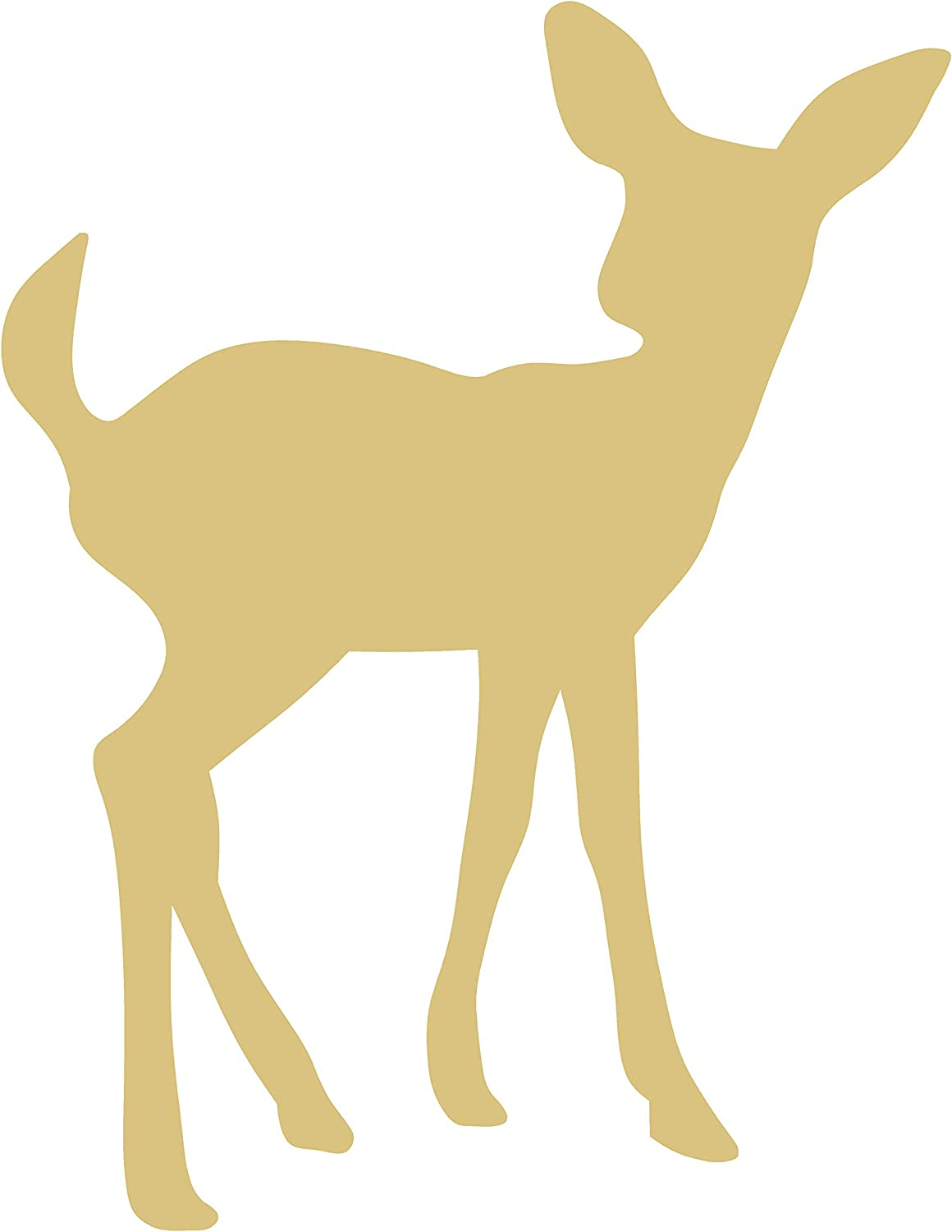 Deer Cutout Unfinished Weekly update Wood Antlers Reindeer Max 59% OFF Caribou Forest Anim