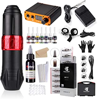 Solong Tattoo Hybrid Rotary Pen 5 Inkt 20 Naaldpatronen Voeding Pedaal Tattoo Machine EK129-1