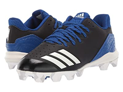 adidas Kids Icon 4 MD Baseball (Toddler/Little Kid/Big Kid) (Black/Cloud White/Royal) Kids Shoes