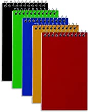 """Wirebound Spiral Memo Books, Top-Opening, College Ruled, 3"""" x 5"""", 75 Sheets/Pad, 5 Pads/Pk"""