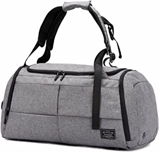 Gym Duffel Bags, 55L Canvas Travel Luggage Bag,new dad gift 2019, Waterproof Gym Bag with Shoes Compartment for Women, Men(Upgraded-Grey)