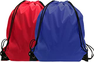 Drawstring Backpack Bulk String Bags Cinch Nylon Backpascks Drawstring Bag 24 Pack