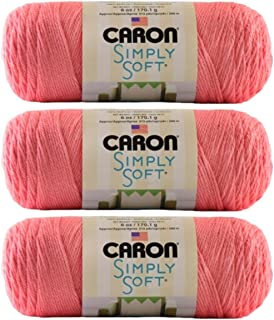 Caron Bulk Buy Simply Soft Collection Yarn (3-Pack) Strawberry H97COL-15