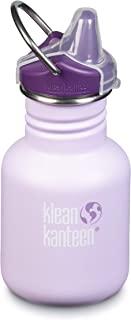 Klean Kanteen Kid Kanteen Classic Sippy Single Wall Stainless Steel Kids Water Bottle with Sippy Cap