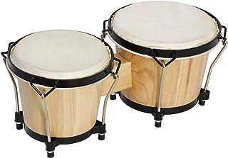 """مجموعه طبل Bongo ZENY 6 """"و 7"""" ، ساز کوبه ای ، طبل چوبی و فلزی برای بزرگسالان مبتدی حرفه ای با آچار تنظیم"""
