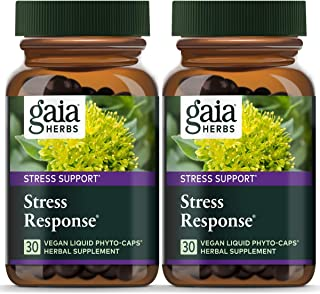 Gaia Herbs Stress Response, Vegan Liquid Capsules, 30 Count (Pack of 2) - Natural Stress Relief & Adrenal Fatigue Suppleme...