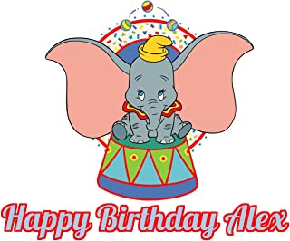 Dumbo Edible Image Photo Cake Topper Sheet Personalized Custom Customized Birthday - 1/4 Sheet - 78103