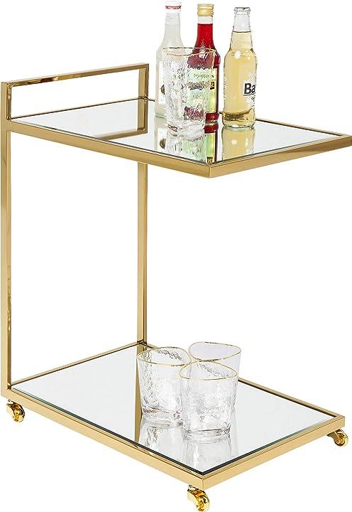 Carrello porta liquori , oro, 64 x 33 x 50 cm kare design 81428