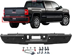 MBI AUTO - Primered Steel, Rear Step Bumper Assembly for 2014-2018 Chevy Silverado & GMC Sierra 1500 Series W/Park Assist Holes, GM1103178