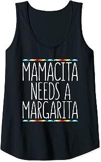 Womens Mamacita Needs A Margarita T-Shirt Cinco De Mayo Gift Shirt Tank Top