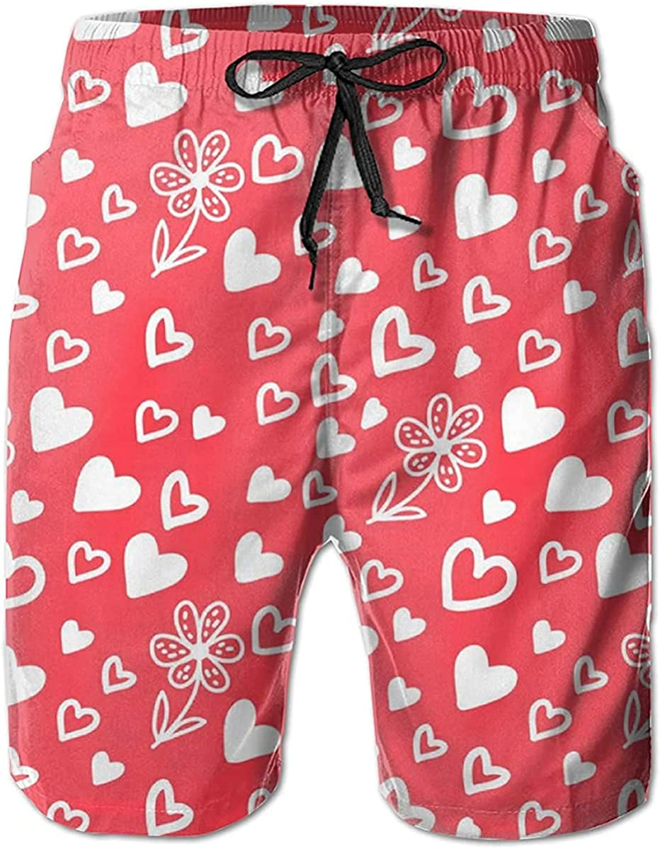 NIUZOOM Men's Quick Dry Swim Trunks with Pockets Beach Board Shorts Bathing Suits