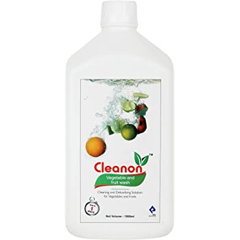 Cleanon Vegetable and Fruit Wash I 1000 ml I Food Grade Ingredients, Removes Pesticides and Germs, Harmful Chemical Free , Safe to use on veggies and fruits FSSAI and ISO Certified