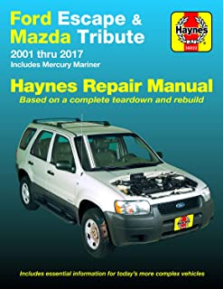 Ford Escape (01-17), Mazda Tribute (01-11) & Mercury Mariner (05-11) Haynes Repair Manual (Does not include information sp...