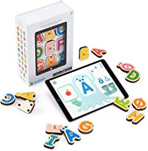 Marbotic - Smart Letters Nordic Kit Edition for iPad & Samsung Tablets - Ages 3-5 - Interactive Wooden Letters Set - Hand...