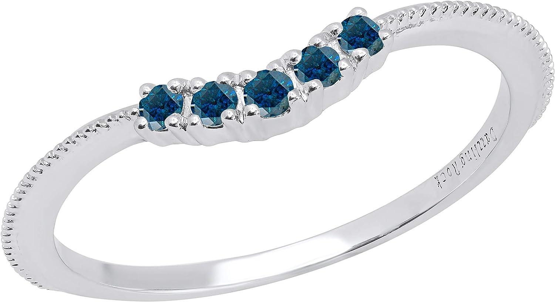 Dazzlingrock Max 65% OFF Collection Round Gemstone Ladies 5 Large discharge sale Stone Co Wedding