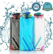 Sinwind 700ML Botella de Agua Plegable Conjunto de 3 Plegable Flexible Botella de Agua Reutilizable para Senderismo Viajes. Aventuras