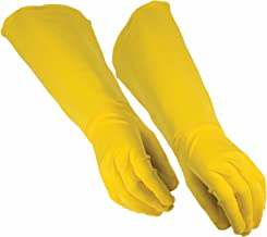 yellow gauntlet gloves