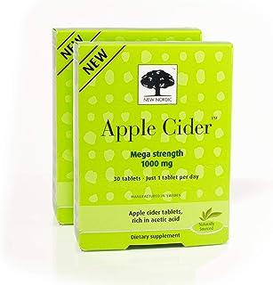 New Nordic Apple Cider Mega Strength, Vegan, Gluten Free, 1000mg, 30 Tablets, Pack of 2