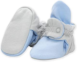 Organic Cotton Baby Booties, Soft Sole Stay-On Baby Shoes