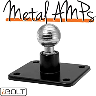 iBOLT Aluminum 17mm AMPs Adapter Plate - for Garmin GPS Devices, Smartphone Holders and Other Industry Standard 17mm adapters