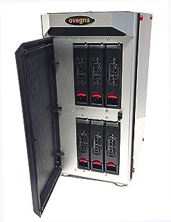Ovegna NAS-6: Servidor NAS Intel Celeron J1900 Quad Core 1.9Ghz, 8 GB RAM DDR3, disco de 64 GB SSD (Sistema), 6 discos dur...