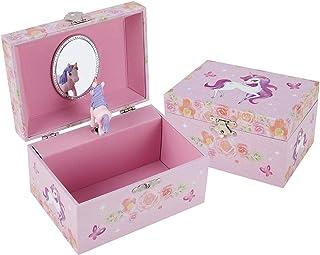 TAOPU Sweet Musical Jewelry Box with Spinning Cute Unicorn Figurines Music Box Jewel Storage Case for Girls