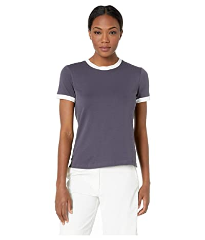 Nike Golf Dry Short Sleeve Ringer Top (Gridiron/White/Gridiron) Women