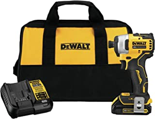 DEWALT DCF809C1 Atomic 20V Max Lithium-Ion Brushless Cordless Compact 1/4 In. Impact Driver Kit W/ 1 Battery