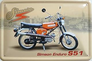 vielesguenstig 2013 Blechschild 20x30cm   Simson Enduro S51