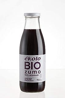 Ekolo Zumo de Arándanos Ecológico, 100% Exprimido, 6 Botellas x 750 ml, 4500 ml