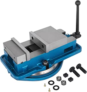 Happybuy 6 Inch Heavy Duty Milling Vise Bench Clamp Vise High Precision Clamping Vise 6 Inch Jaw Width with 360 Degrees Swiveling Base CNC Vise