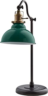 Stone & Beam Walters Vintage Task Table Desk Lamp With LED Light Bulb - 7.6 x 10 x 19.9 Inches, Green