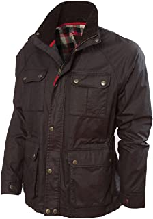 Vedoneire Mens Wax Jacket (3050 Brown) Motorbike Style Designer Coat from Ireland