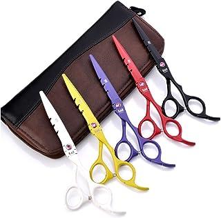 シザー ヘアハサミ 髪切り 6インチヘアドライサーハサミ 理髪美容 セニング 切断剪断/テキスチャライジングヘアセット 剃刀シャープ 日本のステンレススチール製はさみ (Color : 6.0 Yellow thinning scissors)