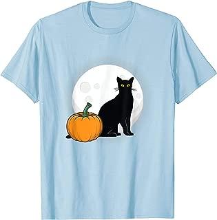 Black Cat Full Moon Pumpkin Halloween Costume  T-Shirt