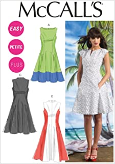 McCall Pattern Company M6741B50 Misses'/Women's Petite Lined Dresses Sewing Template, Size B5 (8-10-12-14-16)