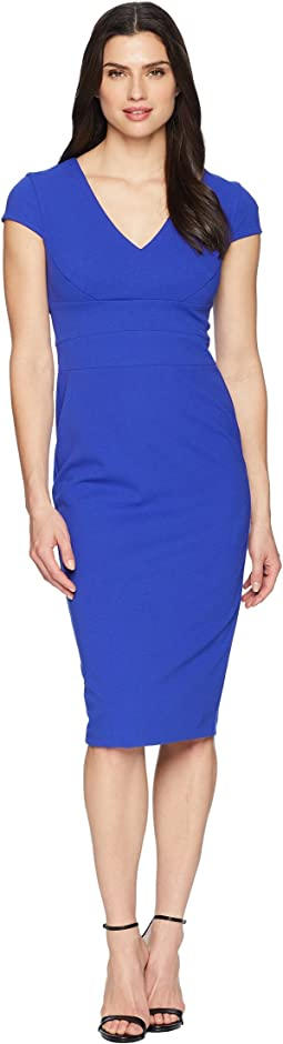 Donna Morgan Crepe Sheath Dress with Cap Sleeve