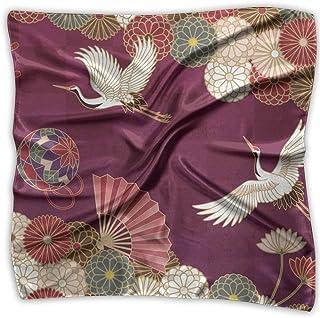 52e5339af4eaf Aeykis Grue traditionnelle japonaise de la mode des femmes Floral Imprimé  Dame Carré Foulard Head Wrap