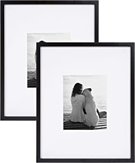 8x10 White EDGEWOOD Driftwood Dad Floating Wood Photo Frame Real Glass Display Picture