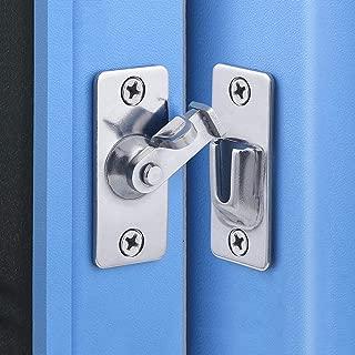 dingchi Door Hasp Latch 90 Degree, Stainless Steel Safety Angle Locking Latch for Push/Sliding/Barn Door, Satin Nickel