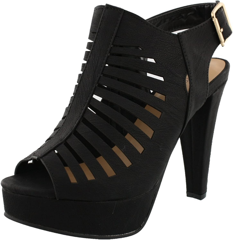 Top Moda Women's Table-20 Gladiator Bootie Sandals