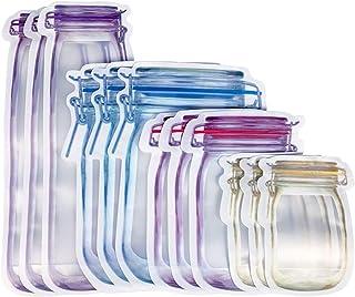 MNBVH Bolsas para Alimentos Reutilizables con Cierre, Ziplock Bags Pequeia, Bolsas per Congelar, Congelador, Verduras, Fru...