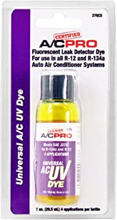 InterDynamics Certified AC Pro Car Air Conditioner Leak Detector Dye, Compatible with R134A, R12 and R22 for Cars & Trucks & More, 1 Oz, 376CS