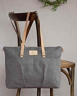 Tote Bag per il progettista, grigio Shopper Tote Bag grigio per le donne, grigio giornaliero Tote Bag per le donne, Canvas...